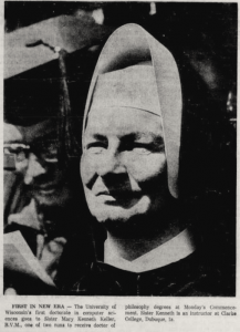 Sister Mary Kenneth Keller at commencement