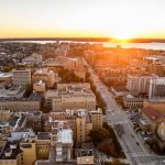 UW-Madison at sunrise