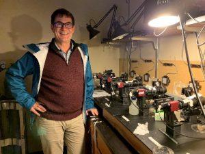 Edgar Spalding in the lab