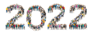 graphic showing 2022 people standing in the shape of the numbers 2022